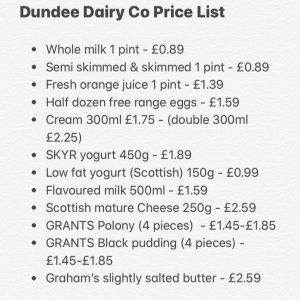 dundee food dairy delivery