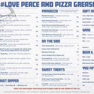 pizza revolution menu