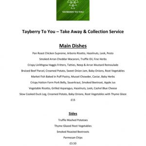 tayberry main dishes