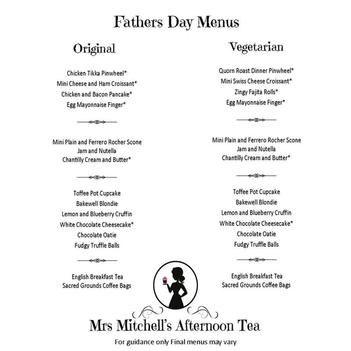 mrs mitchells afternoon tea fathers day dundee